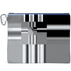 Black And White Endless Window Canvas Cosmetic Bag (xxxl) by designworld65