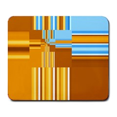 Endless Window Blue Gold Large Mousepads by designworld65