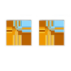 Endless Window Blue Gold Cufflinks (square) by designworld65