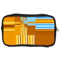 Endless Window Blue Gold Toiletries Bags 2 Side by designworld65