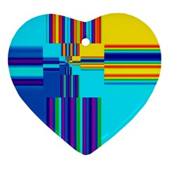 Colorful Endless Window Ornament (heart) by designworld65