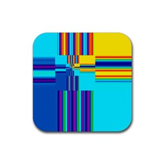 Colorful Endless Window Rubber Square Coaster (4 Pack)  by designworld65