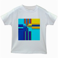 Colorful Endless Window Kids White T Shirts by designworld65