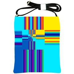 Colorful Endless Window Shoulder Sling Bags by designworld65