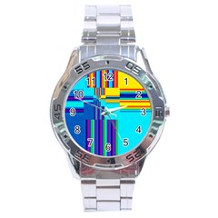Colorful Endless Window Stainless Steel Analogue Watch by designworld65