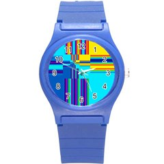 Colorful Endless Window Round Plastic Sport Watch (s) by designworld65