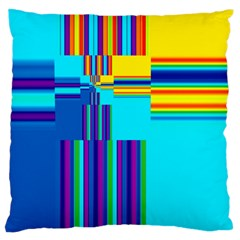 Colorful Endless Window Large Cushion Case (one Side) by designworld65