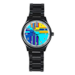Colorful Endless Window Stainless Steel Round Watch by designworld65
