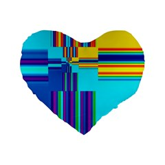 Colorful Endless Window Standard 16  Premium Flano Heart Shape Cushions by designworld65