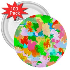 Colorful Summer Splash 3  Buttons (100 Pack)  by designworld65