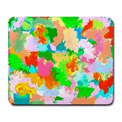 Colorful Summer Splash Large Mousepads by designworld65