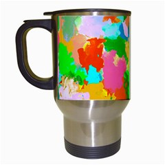 Colorful Summer Splash Travel Mugs (white) by designworld65