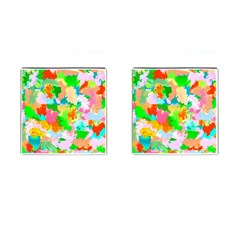 Colorful Summer Splash Cufflinks (square) by designworld65