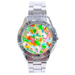Colorful Summer Splash Stainless Steel Analogue Watch by designworld65