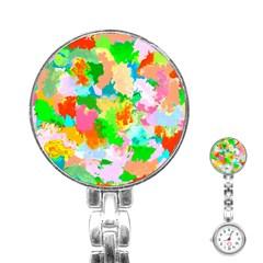 Colorful Summer Splash Stainless Steel Nurses Watch by designworld65