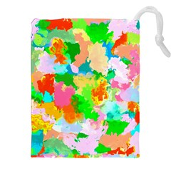 Colorful Summer Splash Drawstring Pouches (xxl) by designworld65