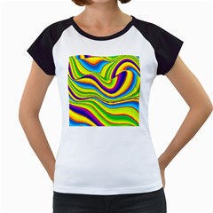 Summer Wave Colors Women s Cap Sleeve T by designworld65