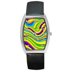 Summer Wave Colors Barrel Style Metal Watch by designworld65