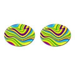 Summer Wave Colors Cufflinks (oval) by designworld65