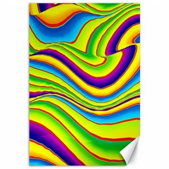 Summer Wave Colors Canvas 12  X 18   by designworld65