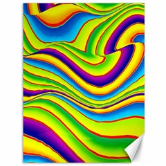 Summer Wave Colors Canvas 36  X 48   by designworld65