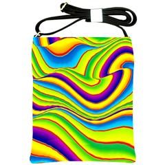 Summer Wave Colors Shoulder Sling Bags by designworld65