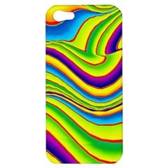 Summer Wave Colors Apple Iphone 5 Hardshell Case by designworld65