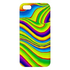 Summer Wave Colors Apple Iphone 5 Premium Hardshell Case by designworld65