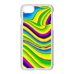 Summer Wave Colors Apple Iphone 7 Seamless Case (white) by designworld65
