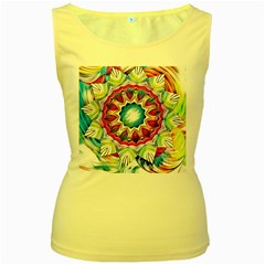 Sunshine Feeling Mandala Women s Yellow Tank Top by designworld65