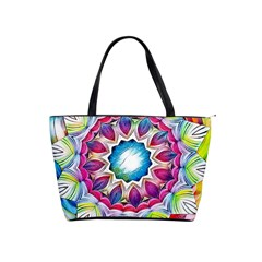 Sunshine Feeling Mandala Shoulder Handbags by designworld65
