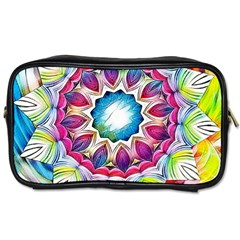 Sunshine Feeling Mandala Toiletries Bags 2 Side by designworld65