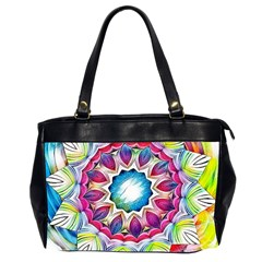 Sunshine Feeling Mandala Office Handbags (2 Sides)  by designworld65