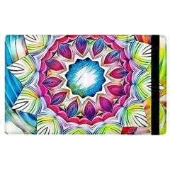 Sunshine Feeling Mandala Apple Ipad 2 Flip Case by designworld65