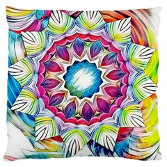 Sunshine Feeling Mandala Standard Flano Cushion Case (one Side) by designworld65