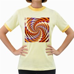 Woven Colorful Waves Women s Fitted Ringer T Shirts by designworld65