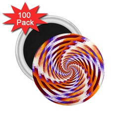 Woven Colorful Waves 2 25  Magnets (100 Pack)  by designworld65