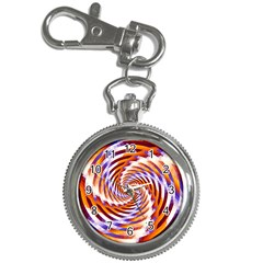 Woven Colorful Waves Key Chain Watches by designworld65