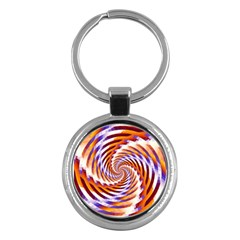Woven Colorful Waves Key Chains (round)  by designworld65
