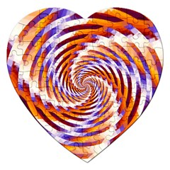Woven Colorful Waves Jigsaw Puzzle (heart) by designworld65