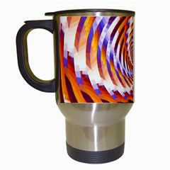 Woven Colorful Waves Travel Mugs (white) by designworld65