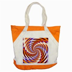 Woven Colorful Waves Accent Tote Bag by designworld65