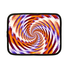 Woven Colorful Waves Netbook Case (small)  by designworld65
