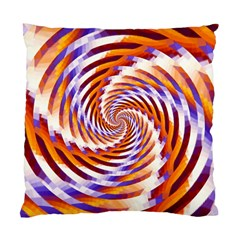Woven Colorful Waves Standard Cushion Case (two Sides) by designworld65