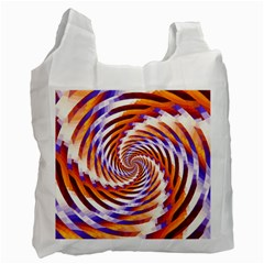 Woven Colorful Waves Recycle Bag (one Side) by designworld65