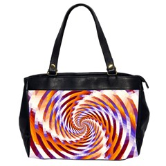 Woven Colorful Waves Office Handbags (2 Sides)  by designworld65