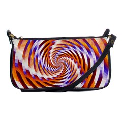 Woven Colorful Waves Shoulder Clutch Bags by designworld65