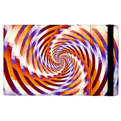 Woven Colorful Waves Apple Ipad 2 Flip Case by designworld65