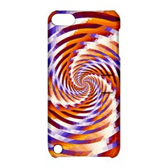 Woven Colorful Waves Apple Ipod Touch 5 Hardshell Case With Stand by designworld65