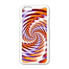 Woven Colorful Waves Apple Iphone 6/6s White Enamel Case by designworld65